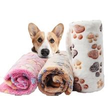 Мягкое одеяло для домашних животных зимний коврик для кровати для собак и кошек теплый спальный матрас с принтом для ног Маленькие Средние товары для собак и кошек из кораллового флиса товары для домашних животных