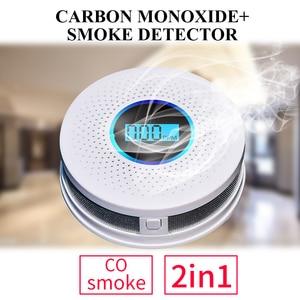 Image 5 - Newest 2 in 1 LED Digital Gas Smoke Alarm Co Carbon Monoxide Detector Voice Warn Sensor Home Security Protection High Sensitive