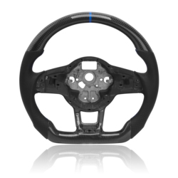 Carbon fiber steering wheel For MK7.5 GTI R For Volkswagen Golf MK7 Surrounded by perforated leather steering wheel assembly