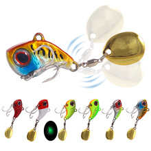 Sequin Spoon Fishing Lure Artificial Luminous Wobblers  Metal Wobbler Sinking For Sea Fishing Mini Vib Lures For Winter Bait 1pcs lure for fishing metal pencil 8cm 13 6g jigging wobblers winter fishing all goods for fish lures artificial bait luminous