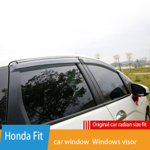 Side Window Deflector For 2020 for Honda Fit  Window Visor Vent Shades Sun Rain Deflector Guard SUNZ Window rain cover window visor vent shades sun rain guard for toyota prado fj120 2003 2009