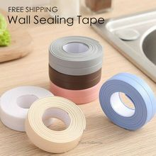 Functional Self Adhesive Kitchen Ceramic Sticker Waterproof Anti-moisture PVC Stickers Bathroom Wall Corner Sink Seal Ring Tape