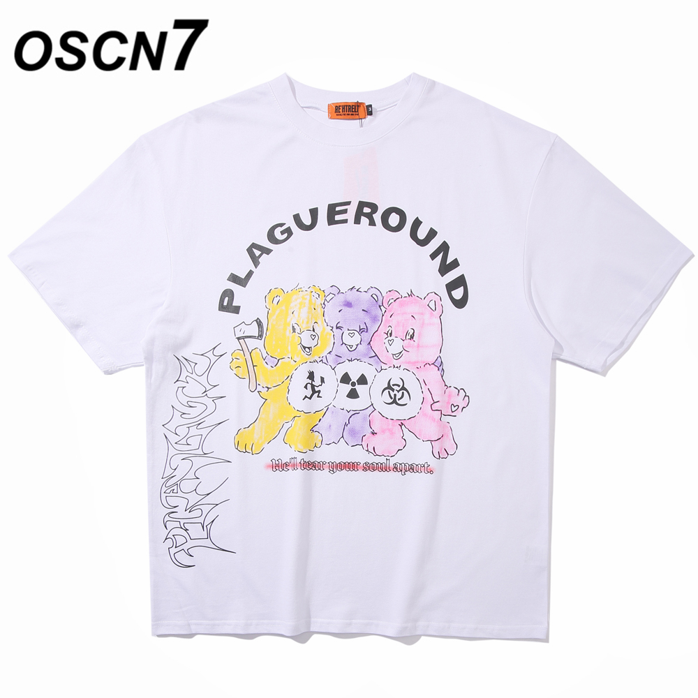 OSCN7 Graphics Print Men's T-Shirts 2020 Funny Short Sleeve Tshirts Summer Hip Hop Casual Fashion Women Top Tee Streetwear D07