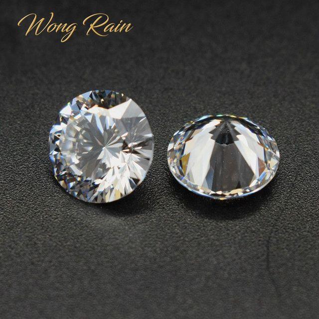 Wong Rain 1 PCS Top Quality Round Cut Created Moissanite Loose Gemstone DIY Stones Decoration Fine Jewelry Wholesale Lots Bulk 1