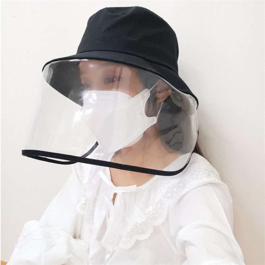 Brand New Belt Dust-proof Bucket Hat Mask Women Anti-fog Protective Sun Hats Female Sunscreen Outdoor Isolation Anti-wind Cap