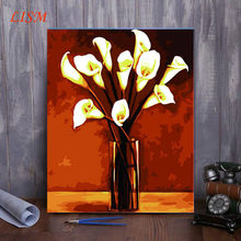 No Frame Vintage Painting Diy Painting By Numbers Flowers Home Wall Art Picture Unique Gift For Home Decor 40x50cm(China)