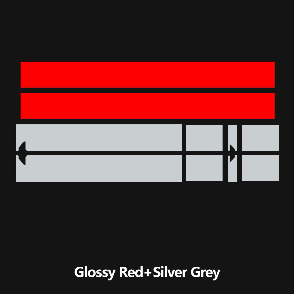 Наклейка на капот автомобиля капот полосы крыши задняя крышка двигателя стикер для мини-купе R58 Cooper S JCW Джон Купер работает аксессуары - Название цвета: KK red silvergrey