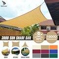 Toldo retangular triangular praça bege, proteção externa para piscina, jardim pátio, proteção contra o sol e abrigo do sol