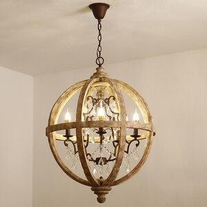 Винтажная люстра, освещение, столовая Подвесная лампа из хрустального дерева, для кухни, гостиной, в деревенском стиле, ретро, Sputnik, подвесно...