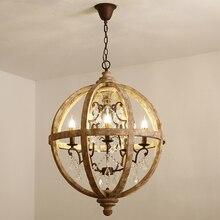 Vintage Chandelier Lights Dining Hanging Lamp Crystal Wood K