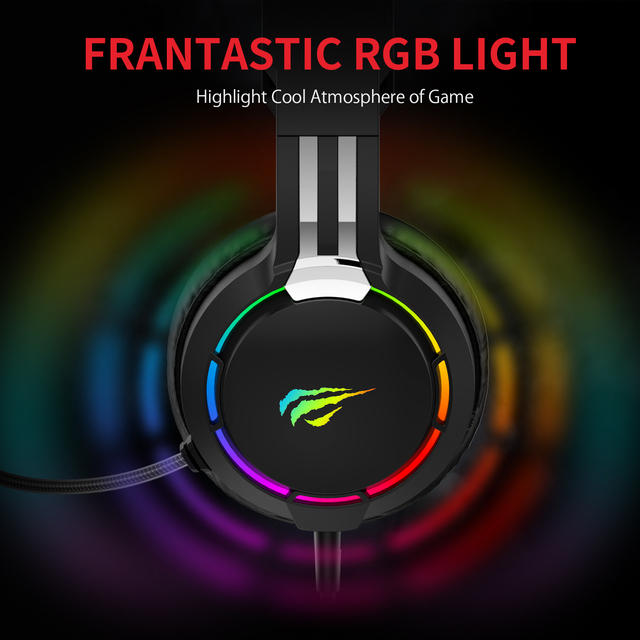 HAVIT Gaming Headset PC USB 3.5mm Wired XBOX / PS4 Headsets with 50MM Driver, Surround Sound & HD Microphone for Computer Laptop 4