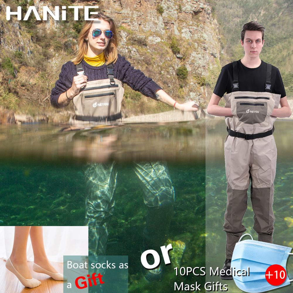 HANITE Neoprene Stocking Foot Chest Wader For Rafting And Hunting And Marsh Muddy Camp, Waterproof And Breathable Fishing Wader
