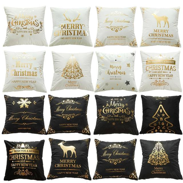 Merry Christmas Decoration For Home Deer Santa Claus Pillow Case 2019 Christmas Ornaments Gift Xmas Navidad Happy New Year 2020 4