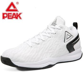 PEAK Basketball Shoes For Men Cushion Comfortable Basketball Sneakers Non-slip Wearable Flexible Outdoor Sports Shoes 35
