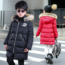 Girl Jacket Autumn Winter Warm Cotton Coat Children Fashion red 2019 New Girls Thick Hooded  For Teenage 4-12Y