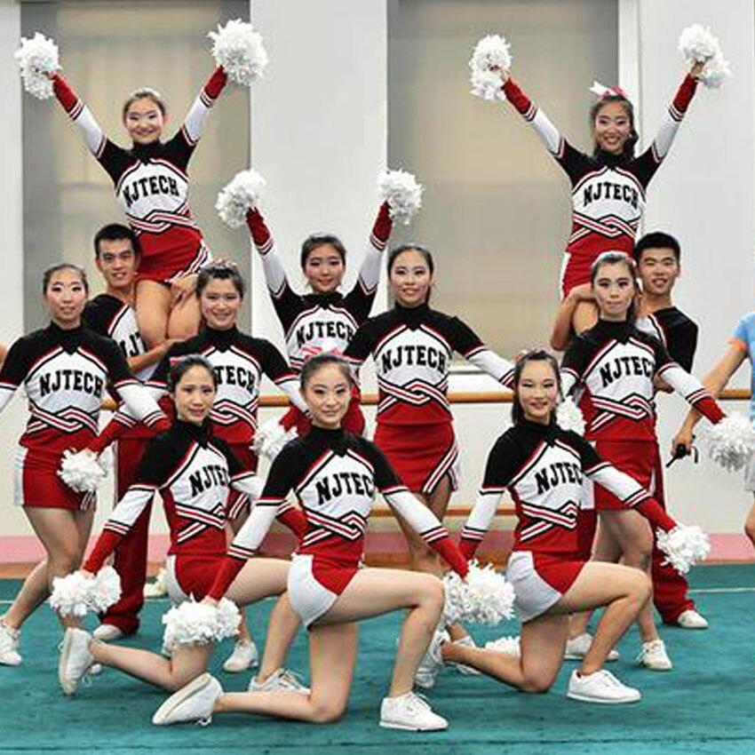 110-170cm Japanese School Uniform Girls Tops+skirt Student Cheerleading Costumes Full Sleeve Boys Aerobics Dance Clothing Set