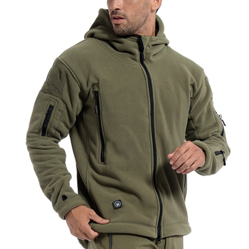 Men Winter Thermal Fleece US Military Tactical Jacket Outdoors Sports Hooded Coat Hiking Hunting Combat Camping Army Soft Shell