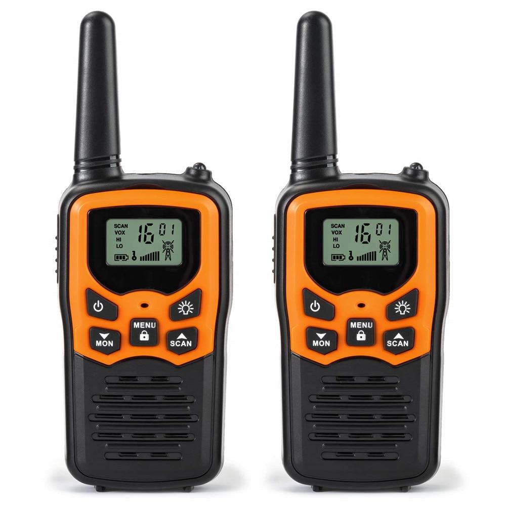 2pcs T5 Mini Walkie Talkie Kids Radio Station Handheld Walkie Talkie Outdoor Civil Portable Radio Communicator Gift