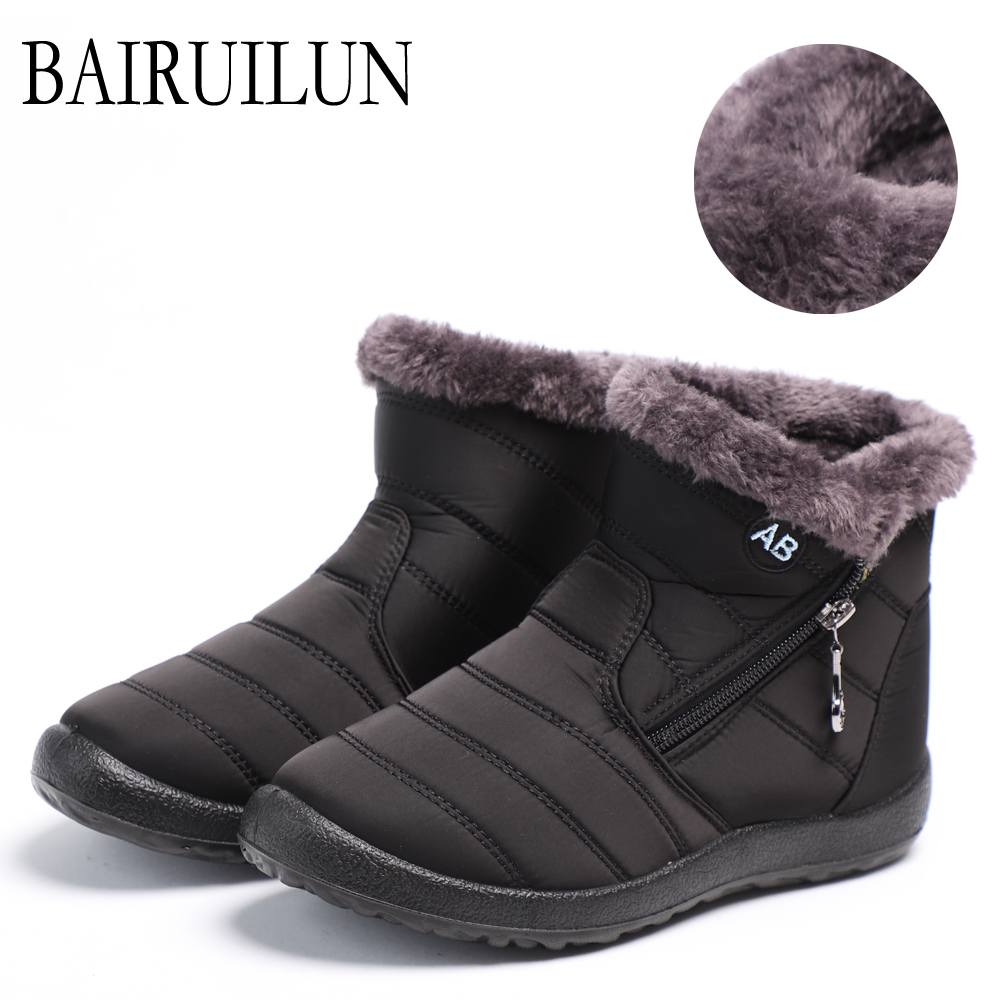 Women Boots Waterproof Snow Boots Female Plush Winter Boots Women Warm Ankle boots Winter Shoes Women casual flat shoes 2020
