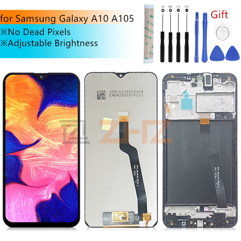 For Samsung Galaxy A10 Touch Screen A105 A105F SM-A105F 2019 lcd Digitizer Assembly with frame replacement Repair parts image