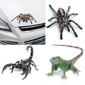 3D Spider Lizard Scorpion Car Sticker animal pattern FOR Skoda Octavia A5 A7 2 Lexus Bmw F30 X5 E53 F10 E34 Lada Granta image