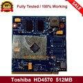 Видеокарта Radeon HD4570 HD4570M GDDR3 512MB 216-0728014 с x-кронштейном для ноутбука Toshiba A500 L500 L550 полностью протестирована