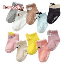 Хлопковые носки для новорожденных Нескользящие хлопковые с мультяшным