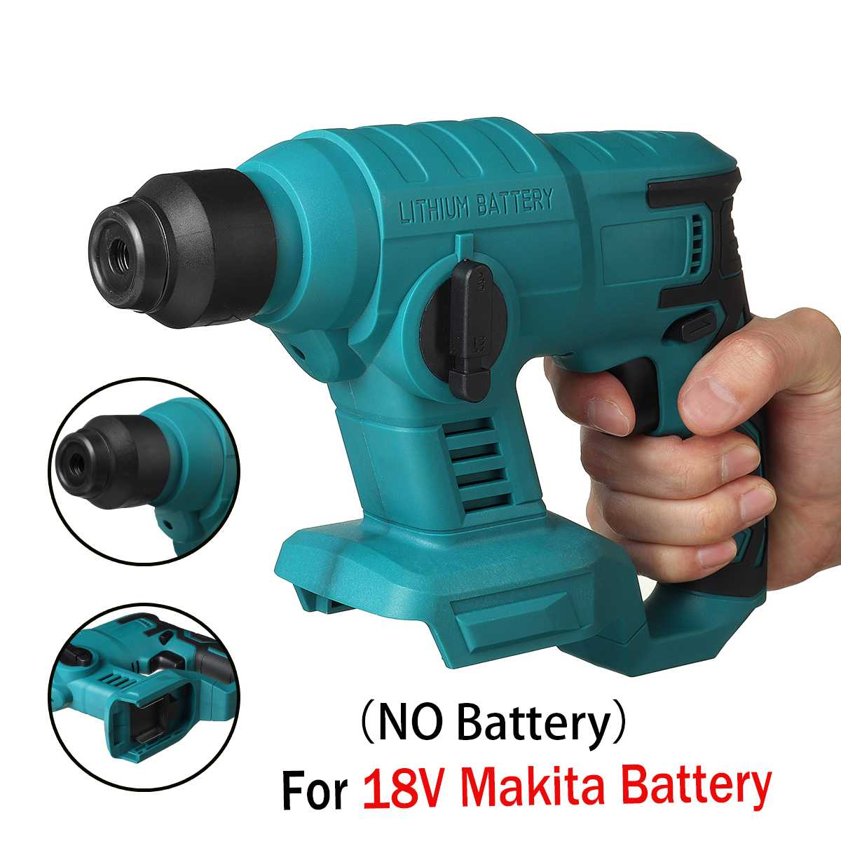 Rechargeable Brushless Cordless Electric Rotary Hammer Drill Multifunction Heavy Duty Impact Hammer Drill For 18V Makita Battery