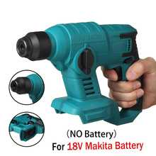 Hammer-Drill Battery Impact-Hammer Cordless Rotary Electric Rechargeable 18v Makita Multifunction