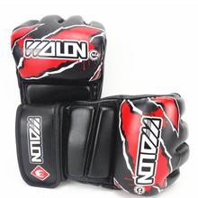 Wulong, перчатки для бокса на половину пальца, для взрослых, ММА, Санда, тренировочные боксерские перчатки, боевые искусства, боксерские перчатки, перчатки для защиты рук