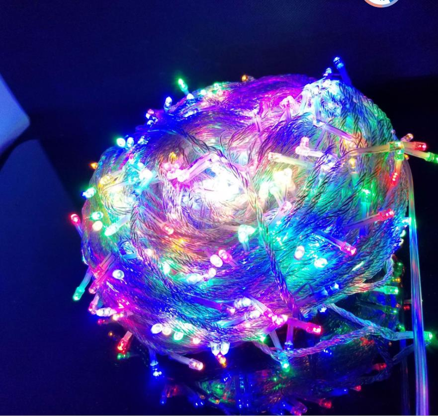 10pcs 600 LED 100M String Fairy Lights Christmas Xmas Garland decoration Wedding party Decoration red Blue White Yellow Pink