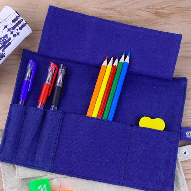Naruto ดินสอกระเป๋า Roll Up กระเป๋าแบบพกพา Akatsuki ดินสอกรณีเครื่องเขียนผู้ถือศึกษาอุปกรณ์สำหรับของขวัญเด็ก