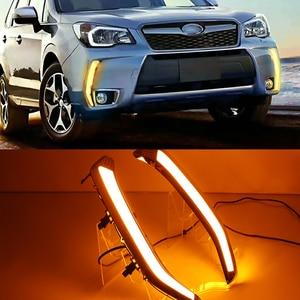 Image 1 - Car Flashing 2Pcs LED Daytime Running Light DRL Turn siganl with night blue for Subaru Forester 2013 2014 2015 2016 2017 2018