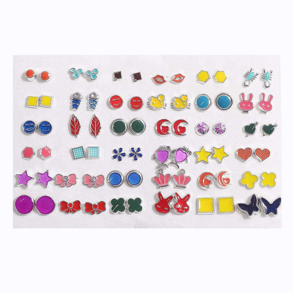 18/36pairs Fashion Mix Style Gold Color Rhinestone Crystal Flower Stud Earings Set For Women Girls Jewelry Brincos Oorbellen