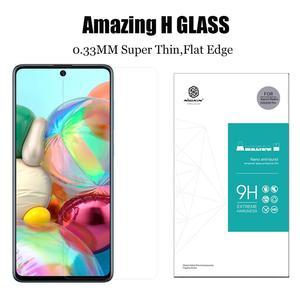 Image 3 - Nillkin זכוכית לסמסונג גלקסי A51 A71 זכוכית מסך מגן 9H 3D מלא כיסוי בטיחות מזג זכוכית לסמסונג a51 A71