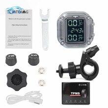 LCD אופנוע TPMS צמיג לחץ צג מערכת עם USB חיצוני חיישני Moto עמיד למים אלחוטי מעורר לחץ מד