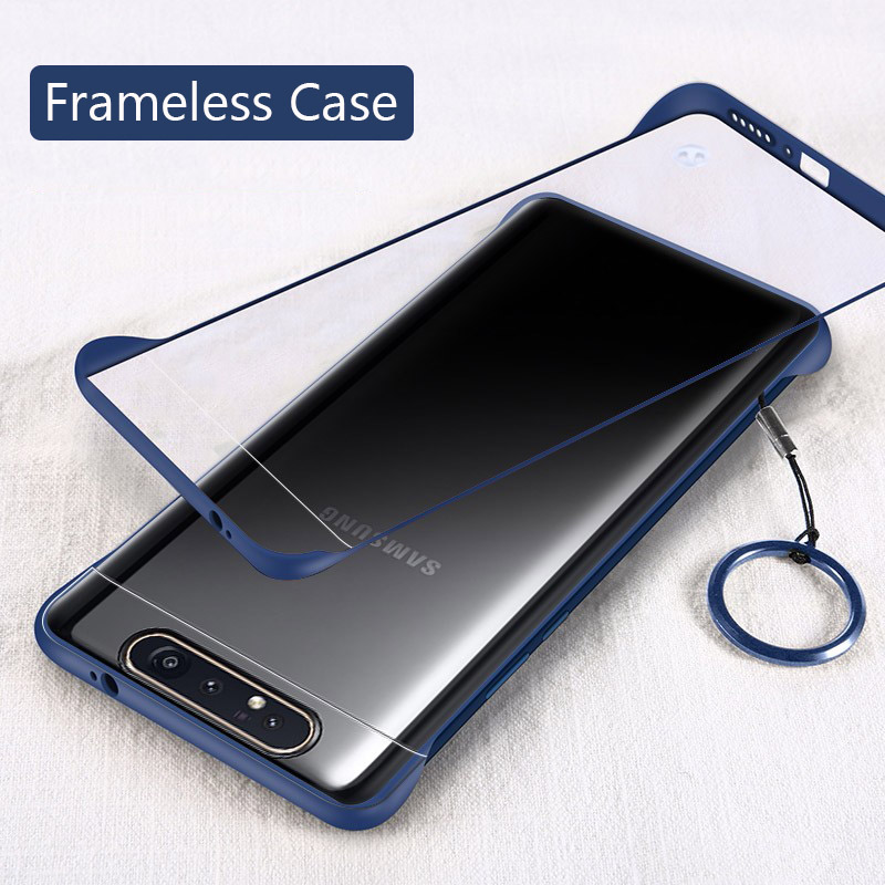 Lainergie Case For <font><b>Samsung</b></font> Galaxy <font><b>A80</b></font> Semi-Transparent Frameless Matte Hard Back <font><b>Cover</b></font> For Galaxy A20 A30 A50 A70 Phone Cases image