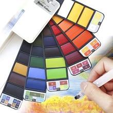 Watercolour Painting 18/25/42 Colors Water Color Paint Brush Portable Solid Watercolor Pigment Set for Art Supplies Watercolor