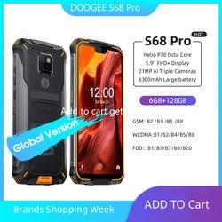 Doogee S68 Pro смартфон с 5,9-дюймовым дисплеем, восьмиядерным процессором Helio P70, ОЗУ 6 ГБ, ПЗУ 128 ГБ, 21 МП, 8 Мп, 10 Вт