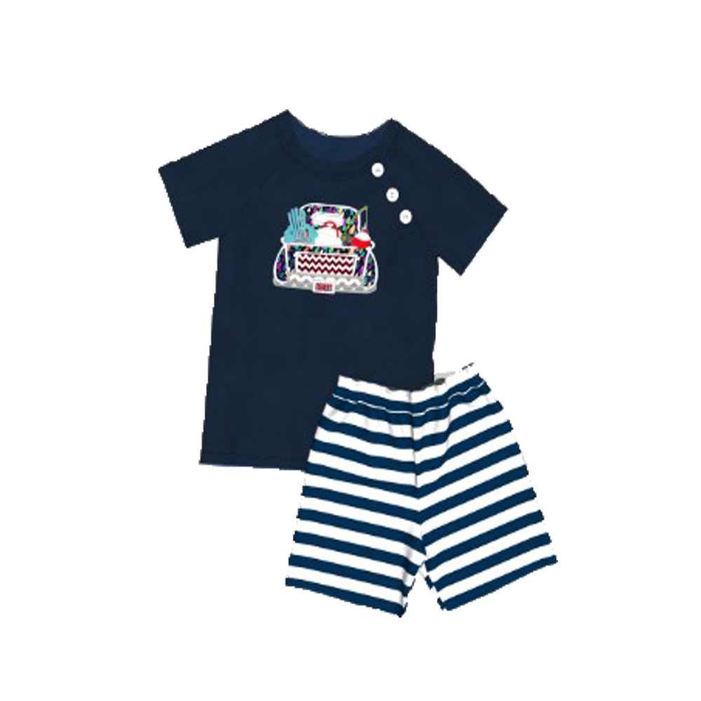 CONICE NINI Summer Cotton Kids Outfits Short Child  Outfits Casual Boy Striped Active Clothing Sets