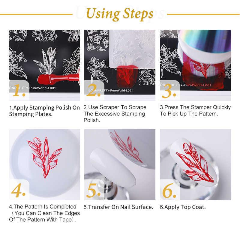 สแตนเลสสตีลเล็บเครื่องมือทำเล็บมือเล็บแสตมป์แม่แบบลูกไม้ดอกไม้ผีเสื้อ Theme เล็บ DIY Designs