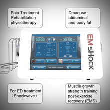 2020 New Design Shock Wave Therapy Massager Machine EMS+Shockwave Therapy Physiotherapy