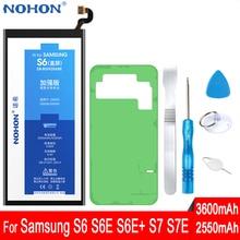 Originele Nohon Voor Samsung Galaxy S6 S7 Rand Plus Telefoon Vervang Batterij SM G920F G925F G928F G930F G935F Hoge Capaciteit Gratis tool