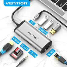 Vention USB C Hub Type C to HDMI Adapter 4K RJ45 USB 3.0 Hub for Macbook Air Pro Huawei USB C Dock Type-C 3.1 Splitter Hub USB