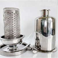 Long/Short Sanitary Inline Strainer Fit 19/25/32/38 Pipe OD Tri Clamp SS304 Stainless Steel Wine Wort Filter Ferrule OD 50.5mm