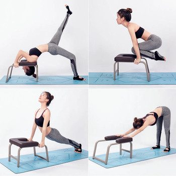 Yoga Assisted Inverted Stool Multifunctional Inverted Chair Yoga Fitness Chair Home Fitness Equipment