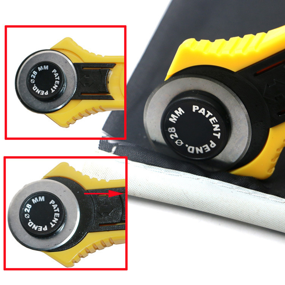 28mm Patchwork Roller Wheel Round Knife Cloth Cutting Knife Knife Leather Craft Fabrics Rotary Cutter For Leather Fabrics-2