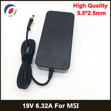 19V 6.32A 5.5*2.5mm 120W Laptop Adapter Notbook Power Supply For MSI GE70 GE60 GE72 GS70 GP60 GX60 A12 120P1A A120A010L Charger