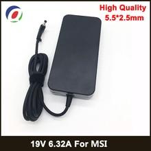 19V 6.32A 5.5*2.5mm 120W 노트북 어댑터 노트북 전원 공급 장치 MSI GE70 GE60 GE72 GS70 GP60 GX60 A12 120P1A A120A010L 충전기