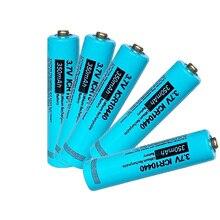 Batería recargable de iones de litio ICR10440, 5 botones de celda AAA superior, 3,7 v, 10440 para linterna frontal, mod mecánico, vap